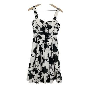 WHBM Fit and Flare Sleeveless Floral Dress
